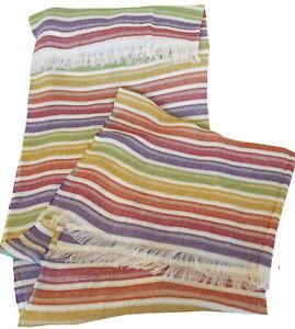 MISSONIHOME BEACH TOWEL  SHAWL PAREO  LINEN BLEND NEMO 100 FRINGED 100X180cm