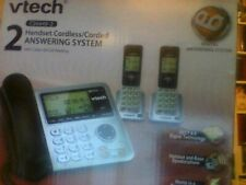 Vtech Cs6649 2 Handsets Corded /Cordless Answering Phone SystemDect6.0 Brand New