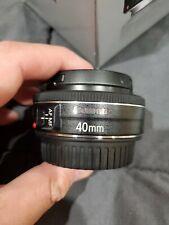 Canon EF 40mm 40 f2.8 f/2.8 AF STM Pancake Lens