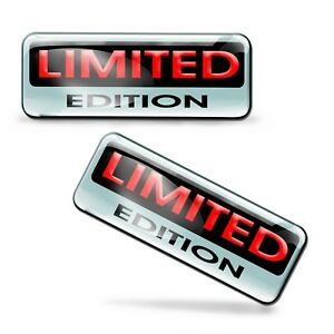 2 x 3D Limited Edition Stickers Domed Decals Logo Car Moto Emblem Badge KS 88