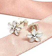 Genuine Pandora White Daisy Flower Earrings