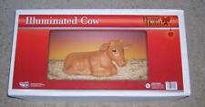 """NEW Christmas Nativity Cow Lighted Blow Mold General Foam Blowmold 22"""" Long"""