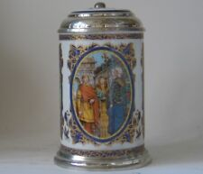 Mettlach Villeroy/Boch Heinrich Porcelain Beer Stein R. Wagner Opera Lohengrin