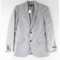 New INC Concepts Men's Two-Button Gray Blazer Lined Jacket Coat Regular Fit S