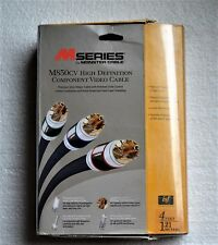 Monster M850 CV-4 M-Series Component Video Cables 4 FT NEW in original box!
