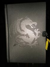 Dragon Embossed Imitation Leather Diary Scholastic with Lock & Key NEW