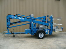 2018 Genie TZ-34/20 towable trailer mounted aerial man boom lift scissor jlg