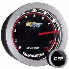 52mm GlowShift Tinted Series Tachometer Tach 10,000 RPM Gauge - GS-T10