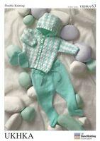 Babies Hooded Pram Set Double Knitting Pattern  - UKHKA63