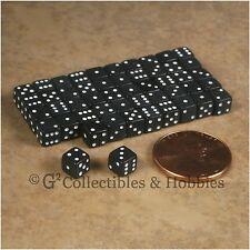 NEW 5mm 50 Opaque Black Mini Dice Set RPG Game Miniature Tiny 3/16 inch D6