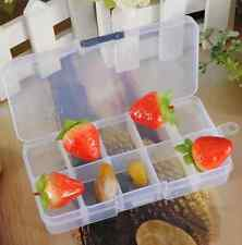 Empty Plastic Storage Case Box 10 Cells Compartments for Nail Art Tips Gems New