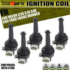 5x Ignition Coils for Volvo C30 C70 S40 S60 S80 2004-2010 Ford Focus Turbo 06-11