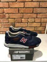 NEW BALANCE SHOES M998MB NAVY/RED MADE IN THE USA WIDTH D