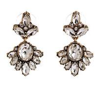 Elegant Women Rhinestone Flower Ear Stud Drop Dangle Earrings Fashion Jewelry