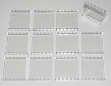 Lego Lot of 12 New Transparent Trans-Clear Panels 1 x 6 x 5 Walls Parts Windows