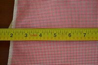 """By-the-Half-Yard, 45"""" Wide, Vintage Red & White Gingham Crisp Poly/Cotton, B1159"""