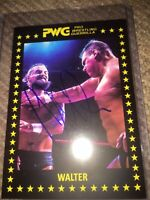 PWG BOLA 2017 WALTER autographed Trading Card Der Ring General WALTER will Kill