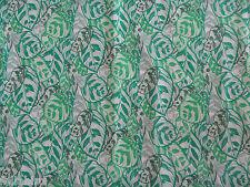 "LIBERTY OF LONDON TANA LAWN FABRIC  ""Jungle A"" 2.5 METRES X 1.32 METRES GREEN"