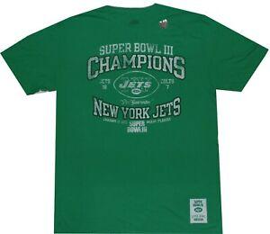New York Jets Super Bowl 3 Champions Vintage Slim Fit T Shirt Clearance $32