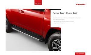 2010-2019 Toyota 4Runner Running Boards (Limited Style) Chrome Genuine OEM