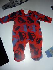 NEXT Gorgeous Little Red Fleecy CAR Sleepsuit NWT