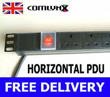 13a Power Distribution Unit Strip 6 Way Horizontal UK PDU