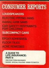 1974 Consumer Reports: Loudspeakers/Electric Frying Pan