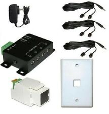 Wired IR Distribution Remote Control Extender Kit-Up to 300' Controls 6 devices