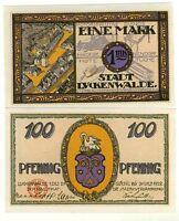 ALLEMAGNE Notgeld 100 NIENDORF piano  1921