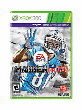 Madden NFL 13 (Microsoft Xbox 360, 2012) Rated E for Everyone