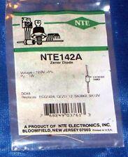 NTE Electronics NTE142A ZENER DIODE 1 WATT 12V 5% DO-41 NOS