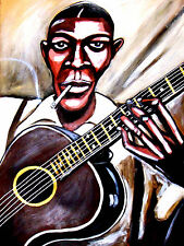 ROBERT JOHNSON PRINT poster king of the delta blues guitar cd crossroads gibson