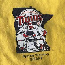 Minnesota Twins Spring Training Staff Fort Myers, FL Yellow T-Shirt Size Medium