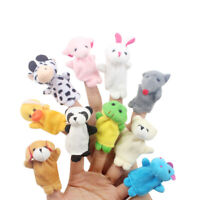 10 Pcs Family Finger Puppets Cloth Doll Baby Educational Hand Animal Toy Gifts g