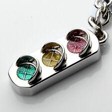 Super Cute Mini Traffic Light Car Key Ring Chain 3D Keyfob Keychain Keyring Gift