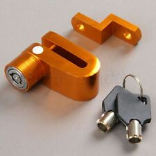 Motorcycle Dirt Bike Security Anti-theft Brake Disc Wheel Rotor Lock Keys Gold