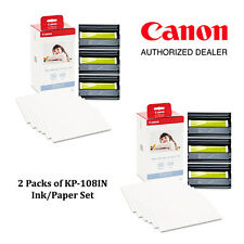 NEW Canon KP-108IN Color Ink and Paper Set (Pack of 2) Bundle Kit - #3115B001