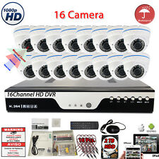 16 Channel H.264 DVR 16x HD 1080P Home CCTV Surveillance Security Camera System