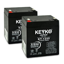 E-Scooter 24v 12V 5.5Ah SLA Battery Replacement KEYKO ® (F1/F2 Adaptor) 2PK