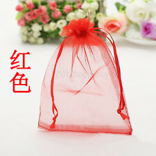 Hotsell 25PCS Red Organza Gift Bag Jewelry Pouch Wedding Favor Bags 9x7cm
