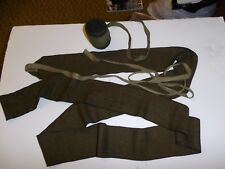 b6961 WW 1 US Army OD Wool Wrap Leggings with Tie Strings Putties pair PBT