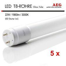 Paquete de 5 AEG Tubo LED 150cm 22w G13 3000k Blanco Cálido 1980lm incl. LED