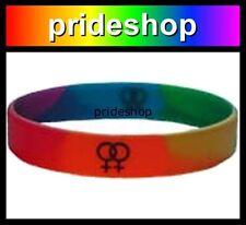 Rainbow Female Symbols Silicone Wristband Lesbian Rainbow Store Wrist Band #603