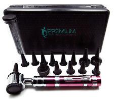 Ent Otoscope Pink Handle 14 Speculas Examination Diagnostic Premium Instruments