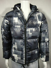 OAKLEY Hooded Puffer White Duck 800-Fill Down Thermal Jacket Gray size M