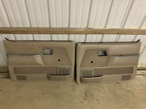 FORD RANGER MANUAL DOOR PANELS BOTH L/R TAN OEM 1987-1991