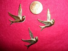 Vintage Plastic Flat Back Doves  Made in USA