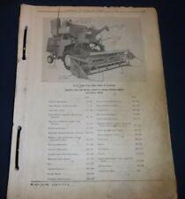 John Deere 55 Series Combine Parts Manual Book Pc 653