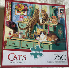 """Charles Wysocki 750 Piece Cats Puzzle """"Picture Purrfect"""" Used Complete"""