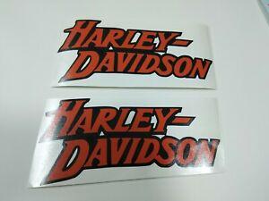 """Lot of 2 Harley Davidson decals - sticker 3.5"""" x 7.5"""